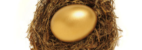 Golden Nest Egg Representing Retirement Savings